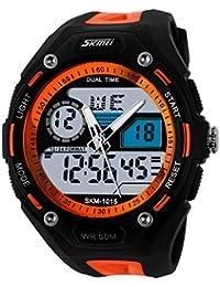 Escalada UNIQUEBELLA buceo 50 m impermeable Deporte alarma de reloj de cuarzo, fecha y día de luz…