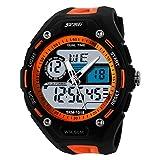 Herren Digital Sport Uhren UNIQUEBELLA Outdoor wasserdichte LED Armbanduhr mit Wecker Chronograph Datumanzeige Silikon Sportuhr für Herren
