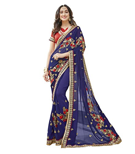 Lajree Designer Women's Clothing sarees for women latest design Georgette embroidery design...