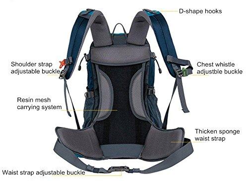 40L Professionelle Outdoor-Klettern Rucksack Schultern Wandern wasserdicht Unisex reisen Sport Bergsteigen Tasche Rucksäcke Blue