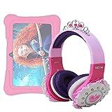 DURAGADGET Cuffie Bambina per Dragon Touch Y88X Plus 7 Pollici   Alldaymall Tablet PC Kid-Proof   Irulu Babypad   JEJA 7 - Design Rosa