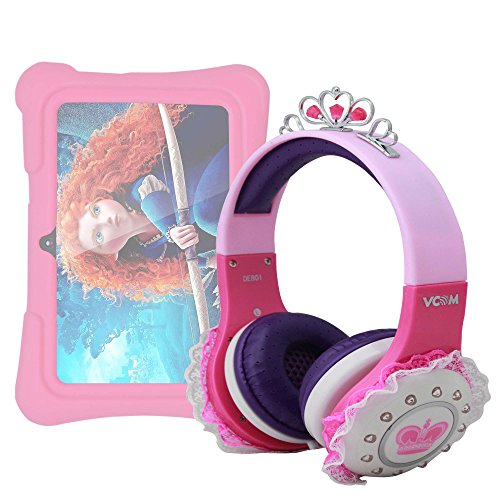 tablet dragon touch DURAGADGET Cuffie Bambina per Dragon Touch Y88X Plus 7 Pollici | Alldaymall Tablet PC Kid-Proof | Irulu Babypad | JEJA 7 - Design Rosa