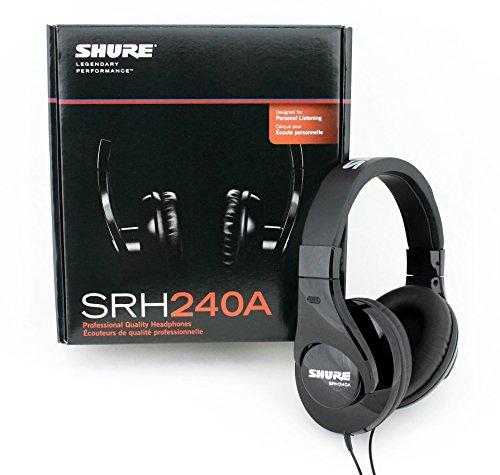 Shure SRH240A, geschlossener Kopfhörer / Over-ear, schwarz, geräuschunterdrückend, druckvolle Bässe und detaillierte Höhen - 4