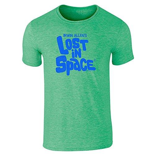 Pop Threads Herren T-Shirt Gr. Large, Grün (Heather Irish Green)