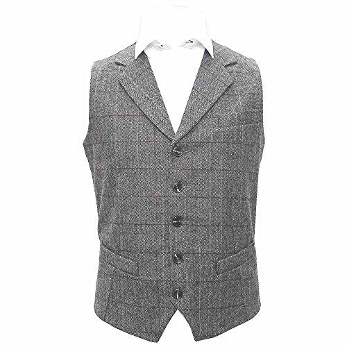 luxury-herringbone-pewter-grey-waistcoat-large-42in-chest