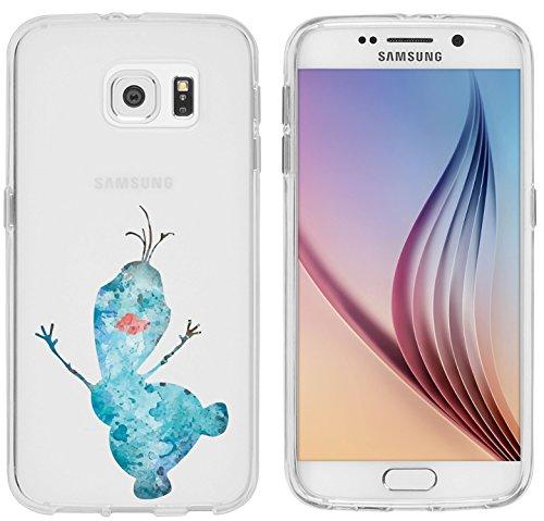 Samsung Galaxy S6 Hülle von licaso® für das Galaxy S6 aus TPU Silikon Schneemann Aquarell Winter Comic Muster ultra-dünn schützt Dein Samsung Galaxy S6 & ist stylisch Schutzhülle Bumper in einem (Samsung Galaxy S6, Schneemann Aquarell)