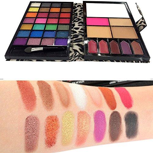 Eyeshadow Lidschatten Palette Professional |Highlighter Kosmetische Matte |Augenschatten Makeup Eyeshadow Palette | WINWINTOMKosmetik Make-up Schimmer Matt 28 Farben Lidschatten-Palette Sombras