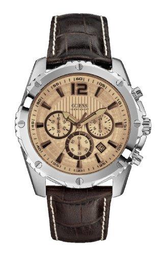 Guess Gents Watch Chronograph XL Leather W0166G2 Quartz