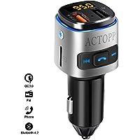 3.1A Caricabatterie USB Dual-Port per auto Trasmettitore FM BT wireless Vivavoce Kit lettore MP3 per auto Adattatore autoradio stereo Qii lu 5V