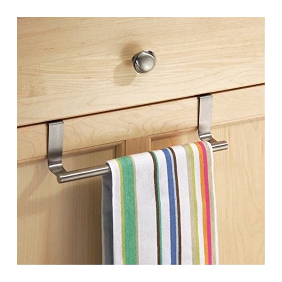 Home Cube Stainless Steel Towel Bar Holder Cabinet Hanger Over Door Kitchen Hook Drawer Storage