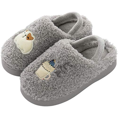 Yourgod Baby Girls Boys Cartoon Warm Indoors Floor Shoes Toddler Kids Slippers Casual Fleece Fashion Toddler Home Slippers