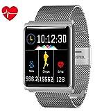 AZWE Reloj inteligente deportivo, rastreador de actividad física con frecuencia cardíaca Monitor de sueño de presión arterial Ip67 Rastreador de actividad impermeable Contador de podómetro de caloría