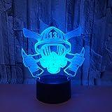 Feuer maske 3d nachtlicht acryl usb 7 farbwechsel fernbedienung touch atmosphäre lampe schlafzimmer licht schreibtisch tischlampe kreative geschenk han-9593