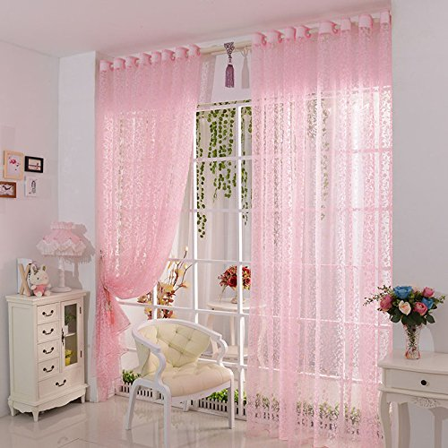 Tongshi Imprimir cortina de puerta de la flor de la gasa de la cortina del tabique ventana Habitación bufanda