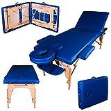 Massage Imperial® - tragbare Profi-Massageliege Chalfont - leicht 14 Kg - 3 Zonen : Blau A01