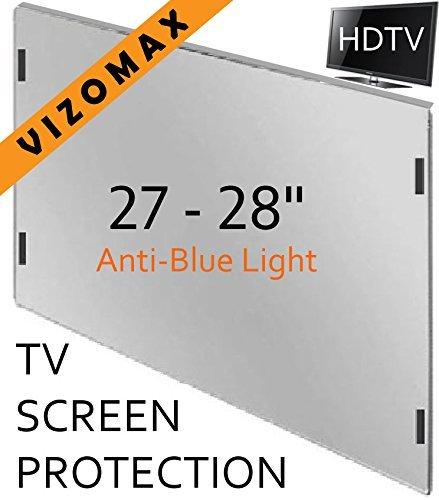 27 - 28-Zoll-Vizomax Anti-blau-Licht TV-Bildschirm-Schutz für LCD, LED und Plasma-HDTV. UV-Schutz, Fernseher-Displayschutz Protector