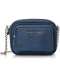 Tracolla Cross A Armani Body Bag Blu Borse denim Exchange Donna 1HBwHv