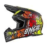 O'Neal 5Series MX Helm Vandal Orange Neon Gelb Motocross Enduro Quad Cross, 0618-26, Größe M (57/58 cm)