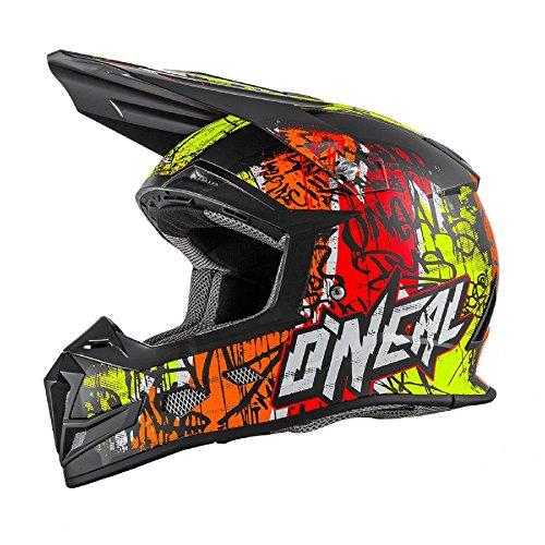 0618-265 - Oneal 5 Series Vandal Motocross Helmet XL Orange Neon Yellow