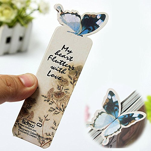 bazaar-farfalla-segnalibro-nota-dellappunto-clip-di-stile-regalo-di-carta-cartone-animato
