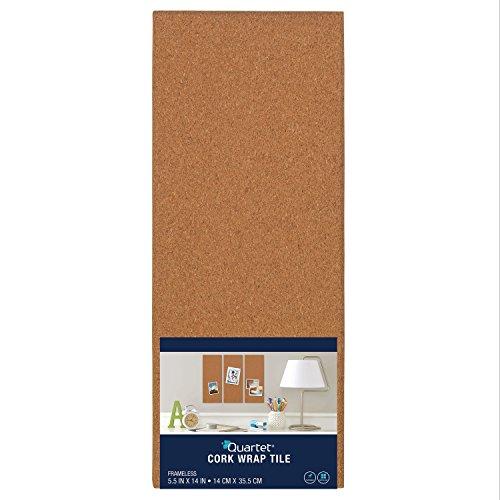Quartet Modular natur rahmenlose Bulletin Board, 14x 35,6cm, Kork (48110) (14x14 Bulletin Board)