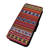 Native Azteken Muster–Flip Case Wallet Cover Sony Xperia Z1 Compact