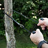 New Black Camping Equipment Hiking Emergency Survival Hand Tool Gear Pocket Chain Saw ChainSaw Carbon Steel Teeth Wire Saw BHU2