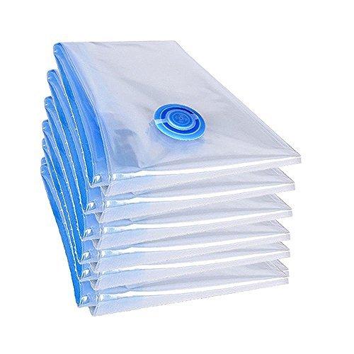 teprovo 6 Stück XXL Vakuumbeutel Bettdecken Vakuum Set Kleiderbeutel 100x70cm groß Aufbewahrung geprüfte Qualität