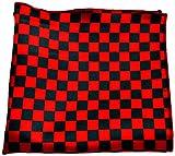 Urban Diseno Men's Polyester Pocket Square (Red & Black)