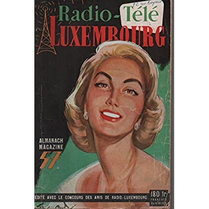 ALMANACH RADIO LUXEMBOURG TÉLÉ 1957