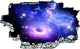 DesFoli Weltraum Erde Space Weltall Galaxy Planeten 3D Look Wandtattoo 70 x 115 cm Wand Durchbruch Wandbild Sticker Aufkleber C218