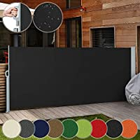 Jago Retractable Side Awning - in Different Colours and Sizes 160x300cm 180x300cm 200x300cm - Outdoor Privacy Screen for Balcony, Terrace and Garden, Sunshade Screen Panel, Sun and Wind