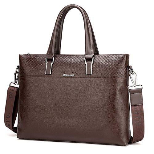 Leder Männliche Tasche Rindsleder Herren-Tasche Umhängetasche Messenger Bag Business Freizeit Diagonal-Paket Brown