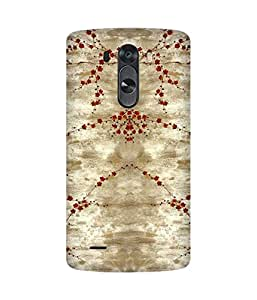 Red Flowers LG G3 Printed Back Cover