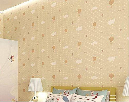 BBSLT Fragola semplici camere per bambini moderna rispettosa dell'ambiente non-tessuto di sfondo caldo ragazze camera da letto sfondo , goose giallo ,