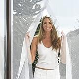 Fliegengitter Tür schwarz mit Klettband zur Befestigung–Moskitonetz für Türen in 2-teilig, Mesh–Farbe Schwarz Größe 75x 220, einstellbar–Montageanleitung, einfache Montage und effizient