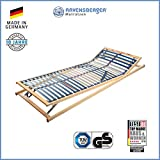 RAVENSBERGER VITA MED 5-Zonen-Schichtholz-Lattenrahmen mit 28 hochelastischen BIRKE-Federholzleisten | Verstellbar | MADE IN GERMANY - 10 JAHRE GARANTIE | TÜV/GS-zertifiziert 100 x 200 cm