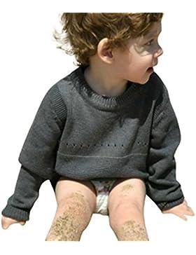 Amlaiworld Baby warm winter sport langarmshirt Mädchen Jungen Kaninchen Stricken pullis,0-4 Jahren