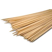 Pinchos de brochetas de madera, Set de 140unidades, 30cm de largo, diámetro 0,3cm, marca youzings
