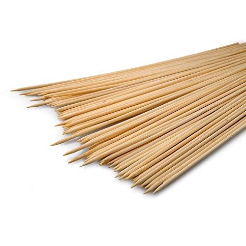 YOUZiNGS Schaschlik-Spieße aus Holz, Set aus 70 Stück, 30cm lang, Durchmesser 0,3cm, Marke