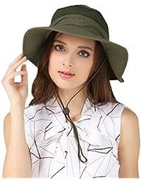 LAOWWO Mens Bucket Hat Fishing Sun Hat Foldable Summer Wide Brim Hat UPF50  Men Women 6060c43a0b92
