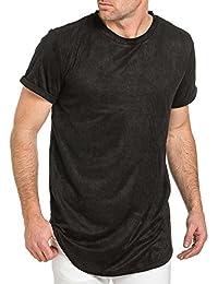 Sixth June - Tee-shirt homme noir oversize suédine