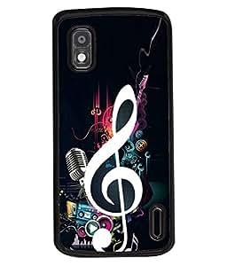PrintVisa Designer Back Case Cover for LG Google Nexus 4 E960 (Music Drums Dance Sound Volume Trump)