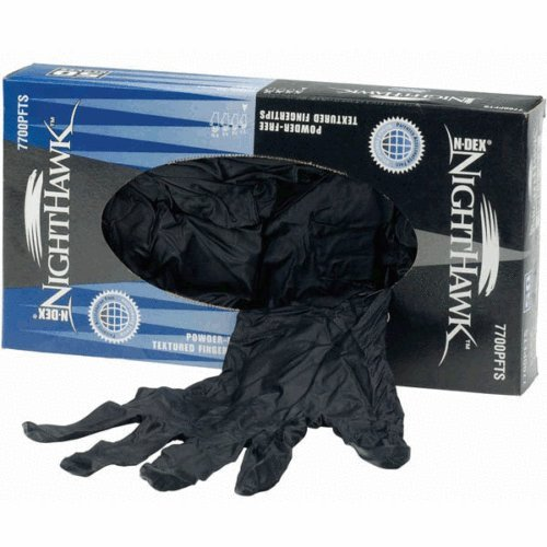 1-x-box-of-showa-best-n-dex-nighthawk-black-nitrile-disposable-gloves-7700pft-size-10-xl