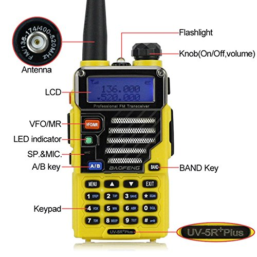Baofeng Walkie Talkie GT-3Mark II Transceiver CTCSS/DCS Radio, Dual Band UHF/VHF, Two Modes, Speaker