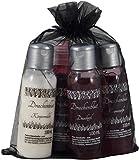 Gothic Set 'Drachenblut' mit Cremeseife, Duschgel, Körpermilch und Schaumbad