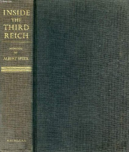 Inside the Third Reich Hdbd by Speer (1970-08-01)