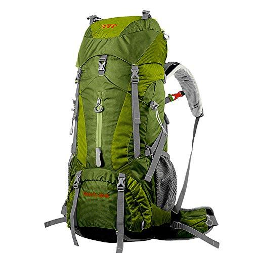 YAAGLE Outdoor Rucksack Trekkingrucksack Camping Rucksack Nylon Bergsteigen Tasche Marken Reise-Tasche (Grün) Grün