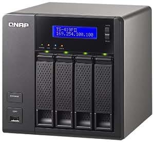 "QNAP TS-419P II 12TB Tour Noir - serveurs de stockage (12000 Go, Série ATA II, 2.5/3.5"", 12 To, 0, 1, 5, 6, 10, JBOD, ext3,ext4,FAT32,HFS+,NTFS)"