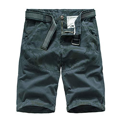 Aiserkly Herren Sommer Cargo Shorts im Freien Baumwolle Lockere Jogging Hosen Kurze Camouflage Arbeitshose Outdoorhose -